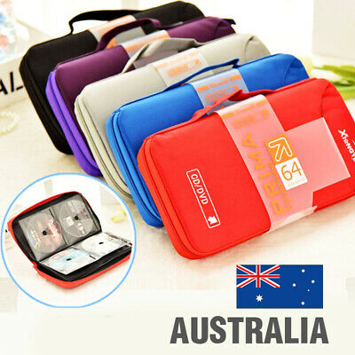 64 CD DVD DISC Holder Album Storage Organizer Case Folder Wallet Carry Bag