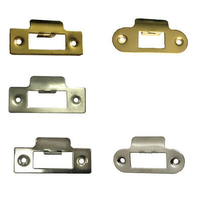 Strike Plate Long Square Round Nickel Plated for Tubular Mortice Latch// Locks
