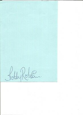Sir Bobby Robson 10x6 inch autograph piece, former football player EL316