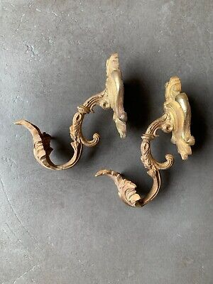 antique French brass curtain Hooks Tie hold backs