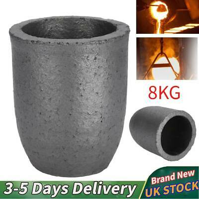 Silicon Carbide Graphite Furnace Casting Foundry Crucible Ingot Melting Tool 8Kg