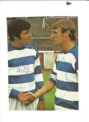 Terry Venables and Clive Clark signed 10x8 signed colour photo, EL353