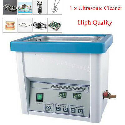 Portable Ultrasonic Cleaner 5L Liter Stainless Steel Industry Heated Clean Glass