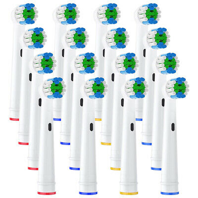 16 Fit For Oral-B Precision Clean Replacement Toothbrush Heads UK Free Shipping