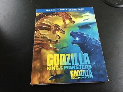 Godzilla King Of The Monsters   ( Blu-Ray +Dvd + Digital  )Brand New Sealed