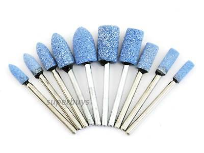 10pc Ceramic Stone Grinding Die Grinder Grind Etch Drill Drilling Etching Tool