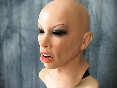 Latex Mask ANGELINA - Real. Female Woman Girl Face Crossdressing Sissy Trans