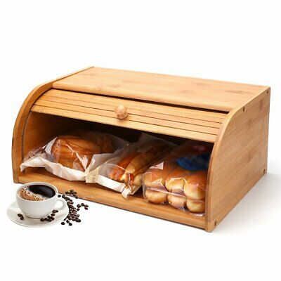 Kitchen Food Storage, Bamboo Roll Top Bread Box