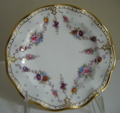 """Royal Crown Derby Royal Antoinette Bread and Butter Plates 6 1/8"""""""