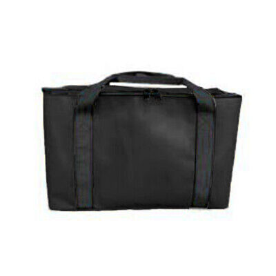 Insulated Pizza Delivery Bag Thermal Black Heavy-Duty Carrying Storage 340*340mm