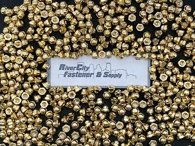 (100) 1/4-20 Brass Acorn / Dome / Cap Hex Nut 1/4 x 20 Nuts 1/4x20 Nut