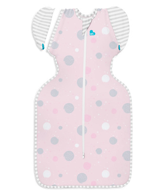 Love To Dream Swaddle Up Lite 0.2 Tog Cotton Transition Bag Pink 2 Sizes