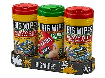 Big Wipes Heavy-Duty Cleaning Wipes Triple Pack + 25% Extra Free XMS19WIPES