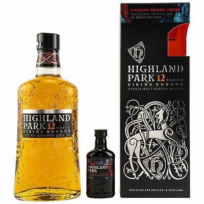 HIGHLAND PARK 12y.o.+ Miniatur DRAGON LEGEND 1x0,7L 40%vol. +1x0,05L 43,1%vol.