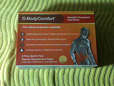 Body Comfort Reusable Therapeutic Heat Packs 6 Piece Sports Pack