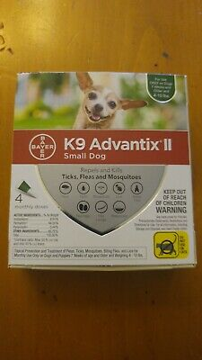 K9 Advantix II Flea Medicine Small Dog 4 Month Supply Pack K-9 4-10 lbs