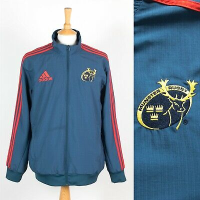 MENS ADIDAS MUNSTER Rugby Tracksuit Jacket Top Sports Active