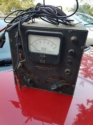 vintage Electronic voltmeter ohmmeter Harrisburg 40's 50's retro test equipment