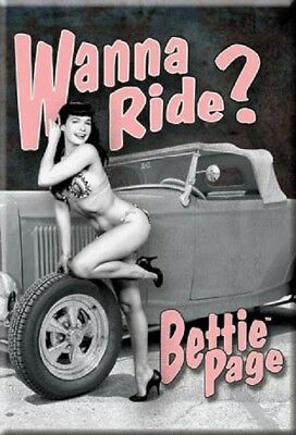 """TIN SIGN /""""Betty Page Beauty /""""Pinup Babe Deco Garage Wall Decor"""