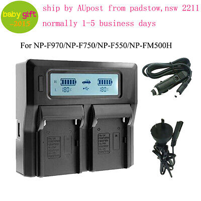1pc NP-F750 NP-F550 NP-FM500H NP-F970 NP-FM50 Battery Charger for Sony Camcorder