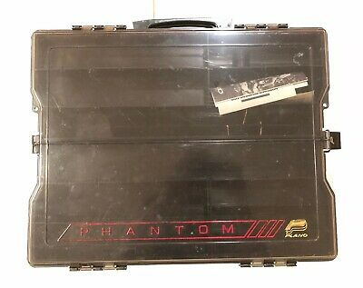 Plano Phantom 1468 Large Double Side Tackle Box Handle Organizer Compartments
