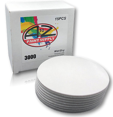 "A to Z - 3000 Grit (6"") Foam Sand Disc - Wet/Dry - DA Hook & Loop (15 Discs)"