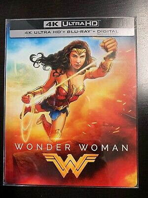 Wonder Woman 4k Ultra Hd Hdr Blu Ray Steelbook Spine Slash