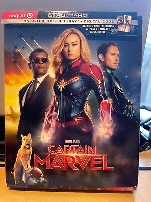 Captain Marvel 4K UHD/ Bluray Target Exclusive Includes Book
