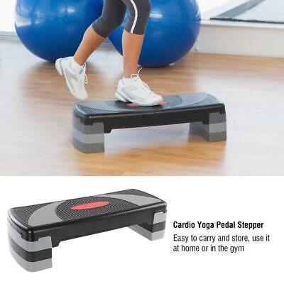 31'' Fitness Aerobic Step Cardio Adjustable Exercise Stepper Trainer w/Risers