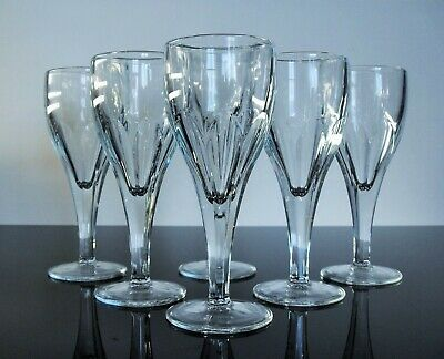 La Rochere France Large 6 Glasses Wine Glass Mold Moulded Bristol Signed