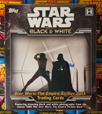 Star Wars  The Empire Strikes Back The Black and White Hobby Box TOPPS 2019 SEAL
