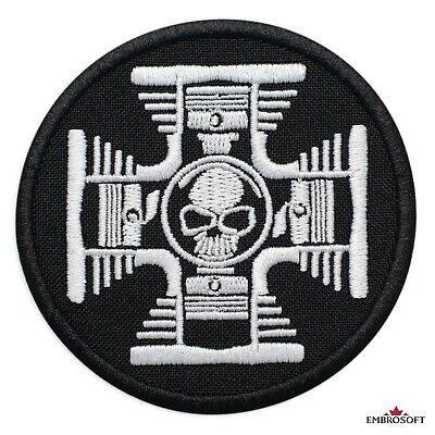"""Cross with Skull In The Center Symbol Emblem Embroidered Patch Iron On 2.8""""x2.8"""""""