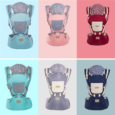 Adjustable Wrap Sling Backpack Ergonomic Infant Baby Carrier With Hip Seat Stool