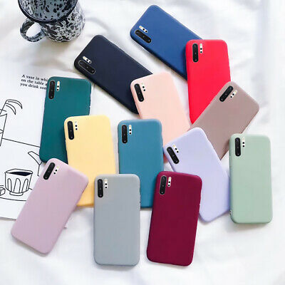 For Samsung Galaxy S8 S9 Note 10 Plus Slim Soft Matte Silicone Phone Case Cover
