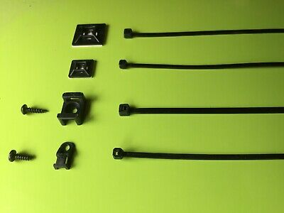 CABLE TIES with choice of fixing mounts - 5 to choose from 25x 50x 100x
