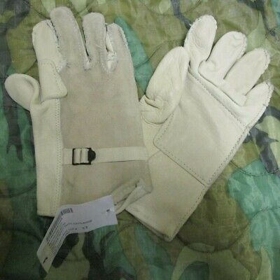 New Genuine Us Seals Heavy Duty Leather Fast Roping Abseiling Work Gloves. M.