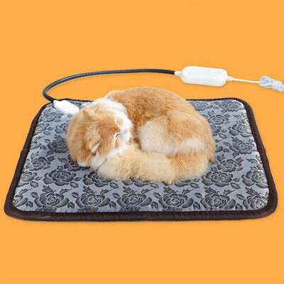 Pet Dog Cat Heating Warm Bed Blanket Adjustable Electric Heat Pad Mat Waterproof
