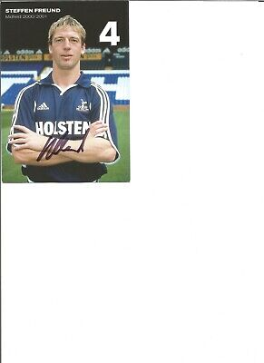 Steffen Freund signed 6x4 inch colour photo card, former football player  EL419