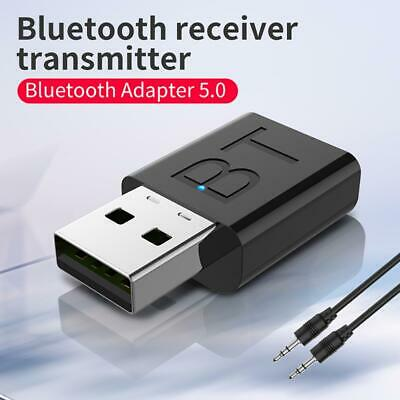 Wireless Bluetooth 5.0 3.5mm AUX Audio Music Receiver Stereo Home Car Adapter