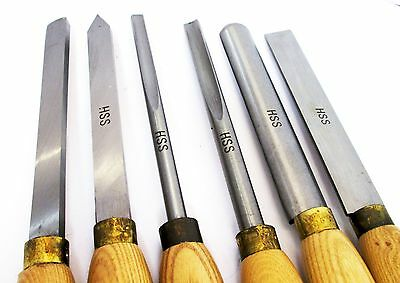 Wood Turning Lathe Chisel Set Quality 6pc HSS Carpentry WW058
