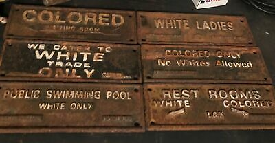 Segregation Sign Cast Iron Lot Sale