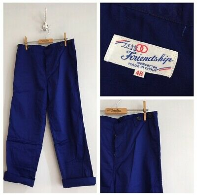 "Vintage Deadstock Cotton Chore Workwear Trousers Pants W33"" 34"" M"