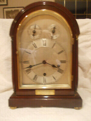 Rare Antique Bracket Clock Presented To Wing Commander R. Hill. R A F 1944