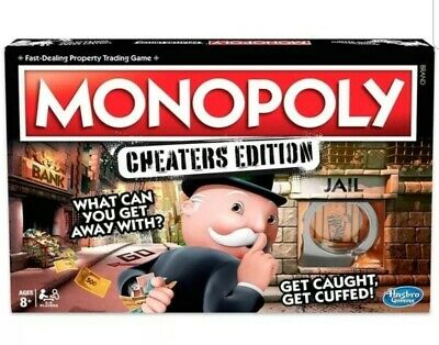 Monopoly Game Cheaters Edition Board Game - Brand New - Hasbro