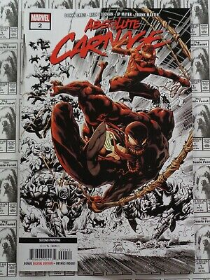 Absolute Carnage (2019) Marvel - #2, 2nd Print Variant, Cates/Stegman, NM