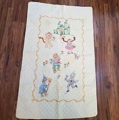 Bucilla Nursery Wizard of Oz Embroidery Quilt Yellow