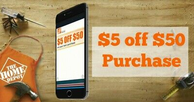 One ~1x~ Home Depot $5 OFF $50 In-Store-Only