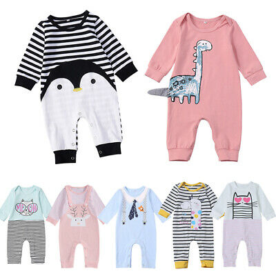 Newborn Infant Toddler Baby Boy Girl Romper Jumpsuit Bodysuit Outfit Set 0-24 M