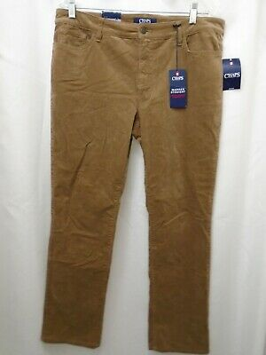 NWT Chaps by Ralph Lauren Madden Straight Women's Size 12 Brown Corduroy Pants
