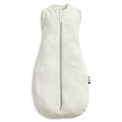 ErgoPouch Organic Cotton 0.2 TOG Cocoon Swaddle Grey Marle 4 Sizes